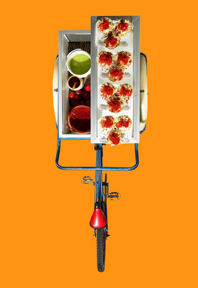 Triciclo de tostadas